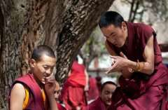 Monk debating at Sara Monastery
